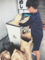 魚沼産コシヒカリ絶賛精米中
